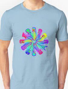 Colorful Electric Guitar Artwork T-Shirt