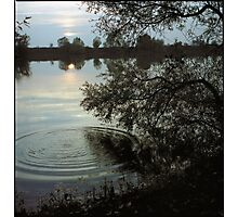 sunset pond • burgundy • 2007 Photographic Print
