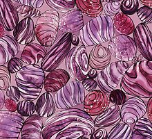 Purple Pebbles in the Riverbed by Chloe Fennell