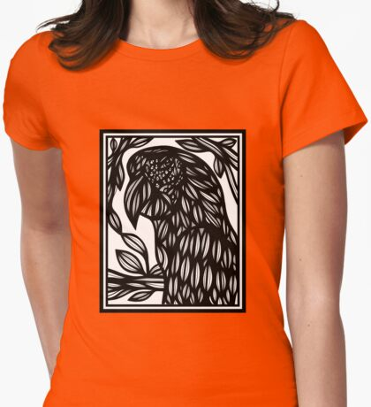 Parrot, Artwork, Drawing Womens Fitted T-Shirt
