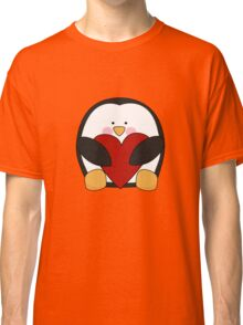 Valentine's Penguin holding heart Classic T-Shirt