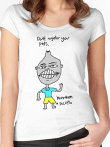 Don't register your pets Women's Fitted Scoop T-Shirt