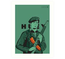 Black Panther Huey Newton Art Print
