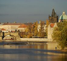 Vltava River Prague by Chris van Raay