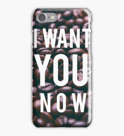 I want coffee iPhone Case/Skin