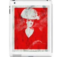 RED DAME IN HAT AFTER REYNOLDS iPad Case/Skin
