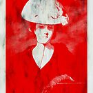 RED DAME IN HAT AFTER REYNOLDS by Terry Collett