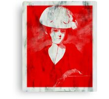 RED DAME IN HAT AFTER REYNOLDS Canvas Print