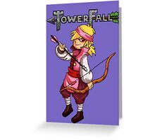 Towerfall Pink Archer Greeting Card