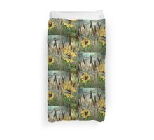 DRAGONFLIES AND SUNFLOWERS Duvet Cover