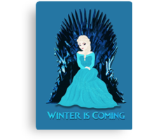 Game of Thrones: Elsa is Coming (Frozen) Canvas Print