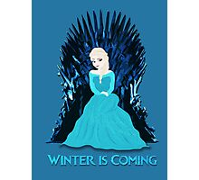 Game of Thrones: Elsa is Coming (Frozen) Photographic Print