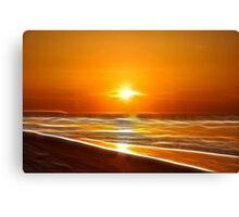 Sunset Play Canvas Print