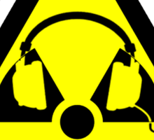 Radioactive Headphones Sticker