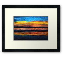 A Beach Sunset Is My Aurora Framed Print