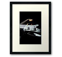 Shadow guitar  Framed Print