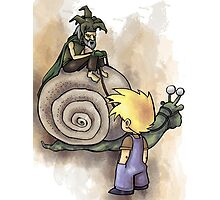 Jeffery Meets The Hermit Snail Rider Photographic Print