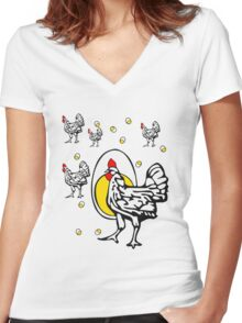 Roseanne Chicken Women's Fitted V-Neck T-Shirt