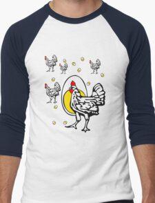 Roseanne Chicken Men's Baseball ¾ T-Shirt