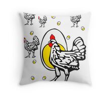 Roseanne Chicken Throw Pillow
