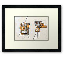 Adjacent towns Framed Print
