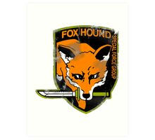 Fox Hound Special Force Group Art Print