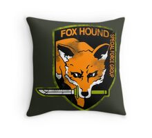 Fox Hound Special Force Group Throw Pillow