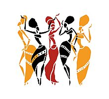 African dancers silhouette Photographic Print