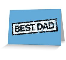 Best Dad Stamp two color Greeting Card