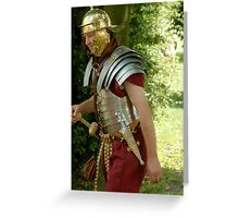 Roman Soldier, re-enactment day Greeting Card
