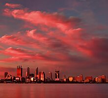 Sunset Over Perth Western Australia - HDR by Colin  Williams Photography