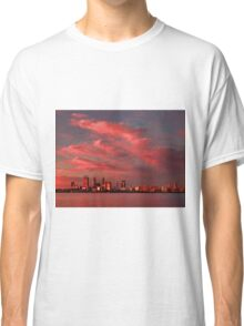 Sunset Over Perth Western Australia - HDR Classic T-Shirt