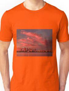Sunset Over Perth Western Australia - HDR Unisex T-Shirt