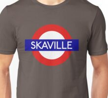 Skaville train station sign - London version Unisex T-Shirt