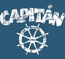Capitan Wheel Vintage White by theshirtshops