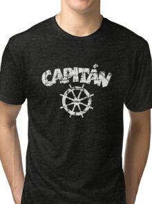 Capitan Wheel Vintage White Tri-blend T-Shirt