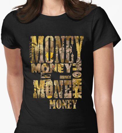 MONEY MONEY MONEY Womens Fitted T-Shirt