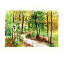 Yellow Woodlands Art Print