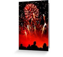 Fireworks Stanford Hall Greeting Card