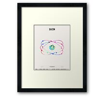 Silicon - Element Art Framed Print