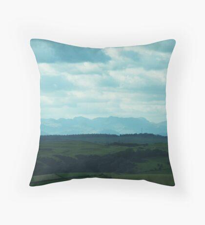 Distant Mountains Throw Pillow