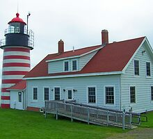West Quoddy Head Lighthouse 2 by Gene Cyr