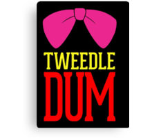 Tweedle Dee Tweedle Dum Costume Canvas Print