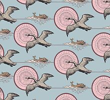 PATTERN SWANS FLIGHT by Colette van der Wal