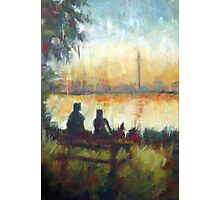Toronto's Centre Island: Modern Impressionist semi-abstraction painting Photographic Print