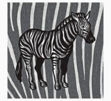 Vintage Zebra One Piece - Short Sleeve