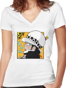 Chibi Law Women's Fitted V-Neck T-Shirt
