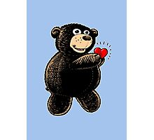 Bear with Heart Photographic Print