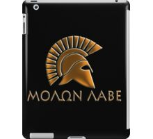 Molon lave-Spartan warrior-lithos font iPad Case/Skin