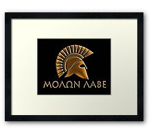 Molon lave-Spartan warrior-lithos font Framed Print